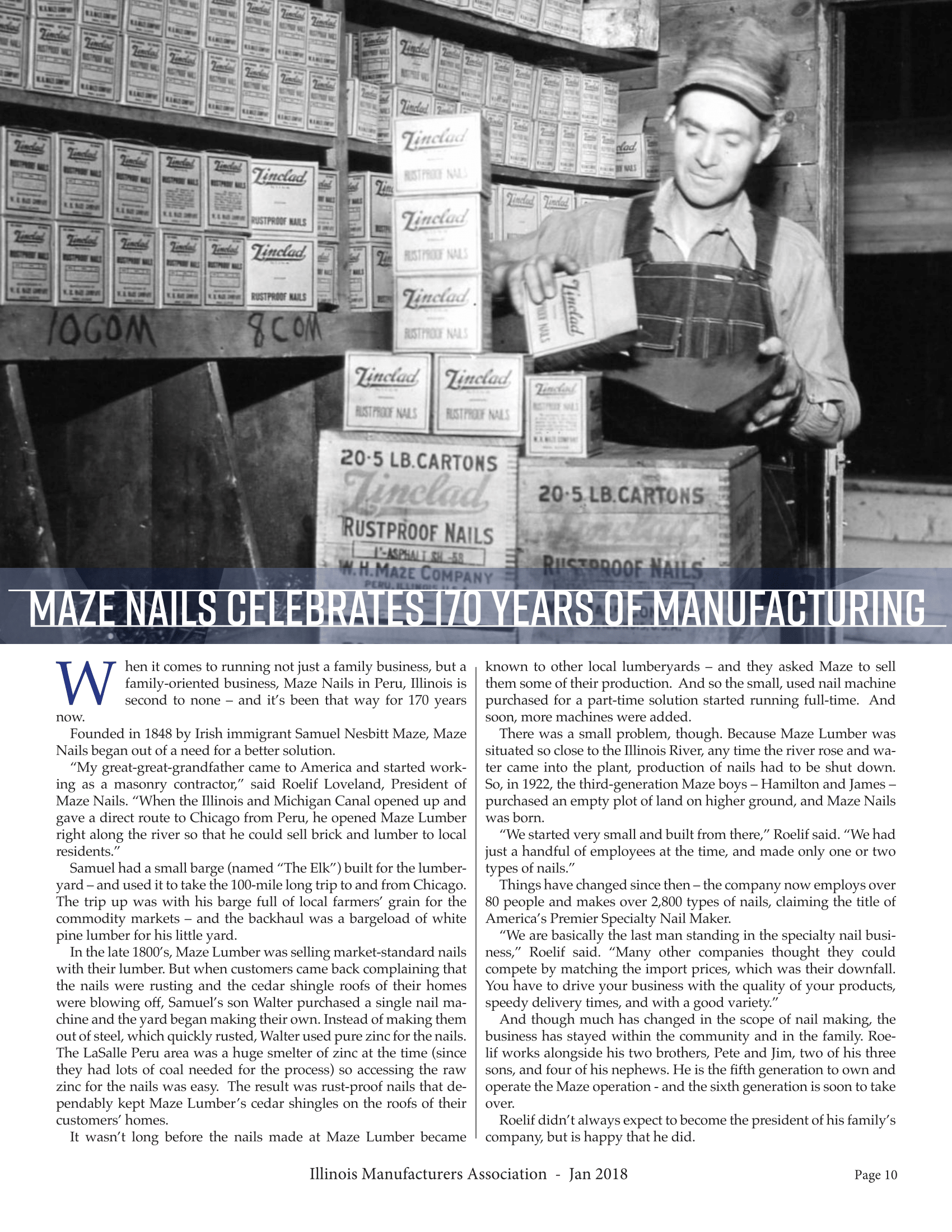 Maze Nails Celebrates 170 Years of Manufacturing