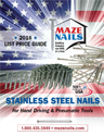 Maze Stainless Steel Nails Catalog & List Price Guide
