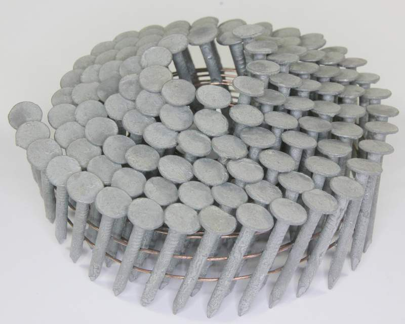 15° Hot-Dip Galvanized Plain Shank Roofing Nails