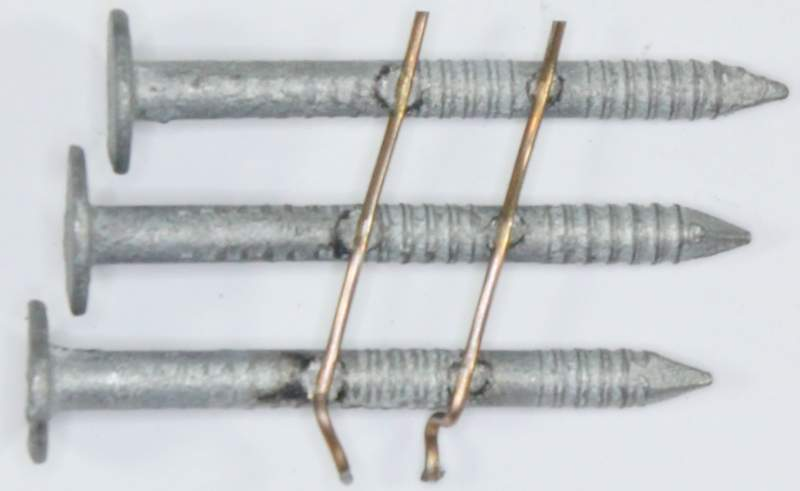 Awesome 15° Hot Dip Galvanized Ring Shank Roofing Nails · For Asphalt Roofing ...